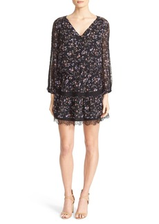 Joie Auggie Floral Silk Blouson Dress