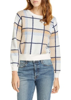 Joie Austine Check Wool Blend Sweater