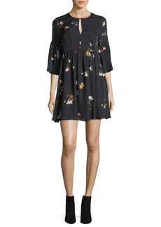 Joie Avari Floral-Print Silk Dress