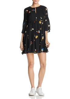 Joie Avari Floral-Print Silk Mini Dress