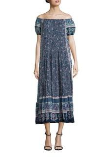 Joie Avatara Silk Off-The-Shoulder Maxi Dress