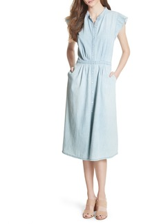 Joie Awel Ruffle Chambray Shirtdress