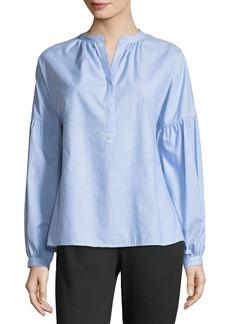 Joie Azabeth Drop-Shoulder Henley Shirt
