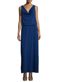 Joie Balen Drape-Neck Maxi Dress
