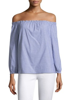 Joie Bamboo Off-The-Shoulder Blouse