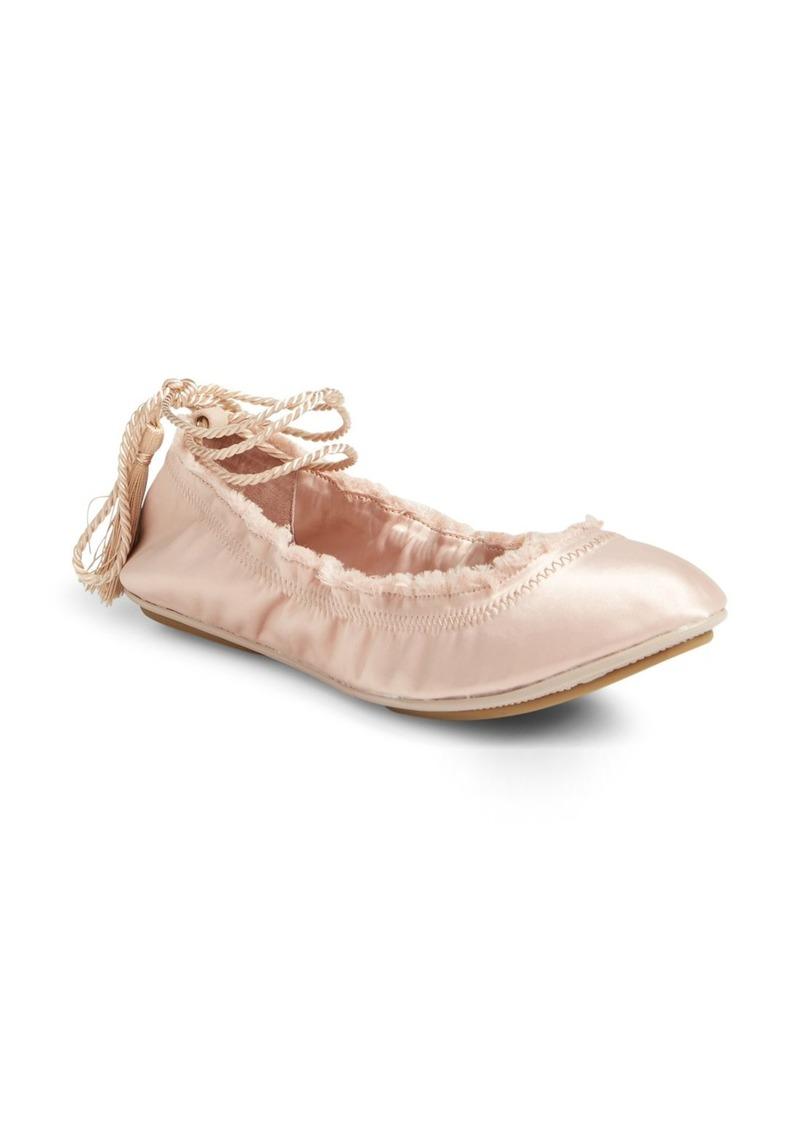 Joie Bandele Lace-Up Ballet Flat (Women)