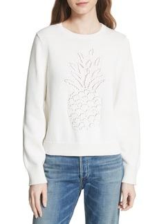 Joie Barin Pineapple Cotton Sweater
