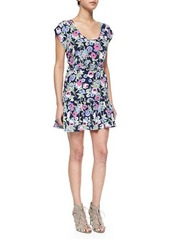 Joie Belinda Floral-Print Silk Dress