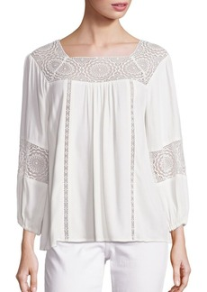 Joie Bellange Lace Inset Blouse