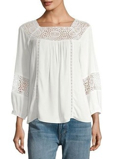 Joie Bellange Lace-Inset Blouse