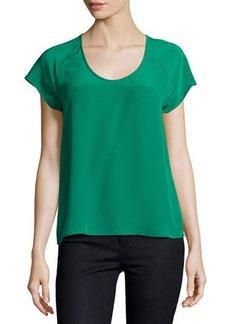 Joie Bellona Silk Short-Sleeve Top