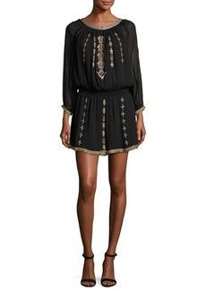 Joie Berline Embroidered Blouson Dress