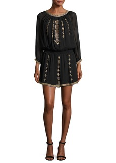 Joie Berline Embroidered Blouson Dress
