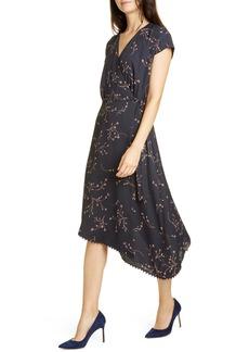 Joie Bethwyn Floral Crepe Wrap Dress