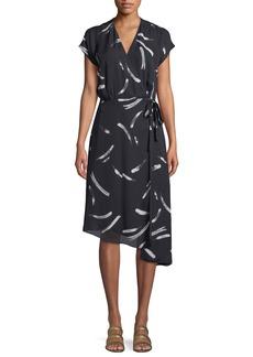 Joie Bethwyn Printed Short-Sleeve Wrap Dress