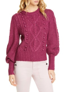 Joie Bia Blouson Sleeve Cable Sweater