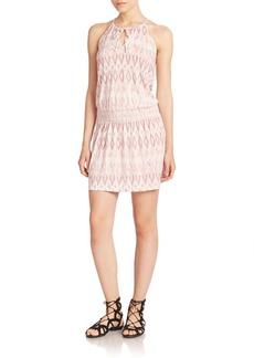 Joie Bianka Smocked Printed Dress