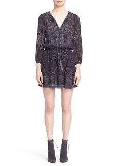 Joie 'Bittern' Print Silk Blouson Dress