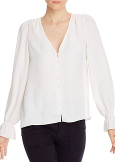 Joie Bolona Bell Cuff Button Front Top