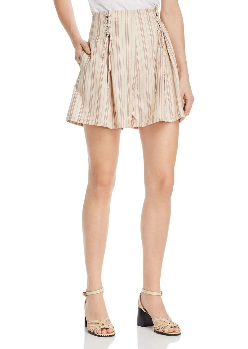 Joie Boseda Striped Lace-Up Shorts