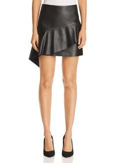 Joie Botan Tiered Leather Skirt