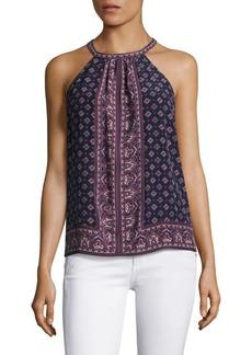 Joie Bradie Sleeveless Printed Silk Blouse