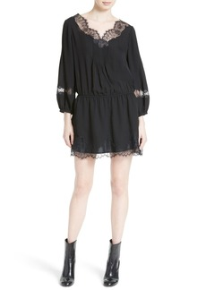 Joie Branco Silk Shift Dress