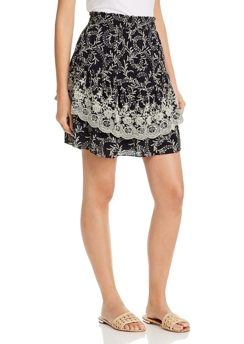 Joie Braylee Embroidered Botanical Skirt