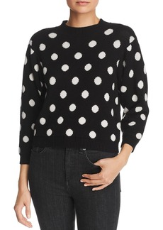 Joie Brettina B Polka-Dot Wool Sweater