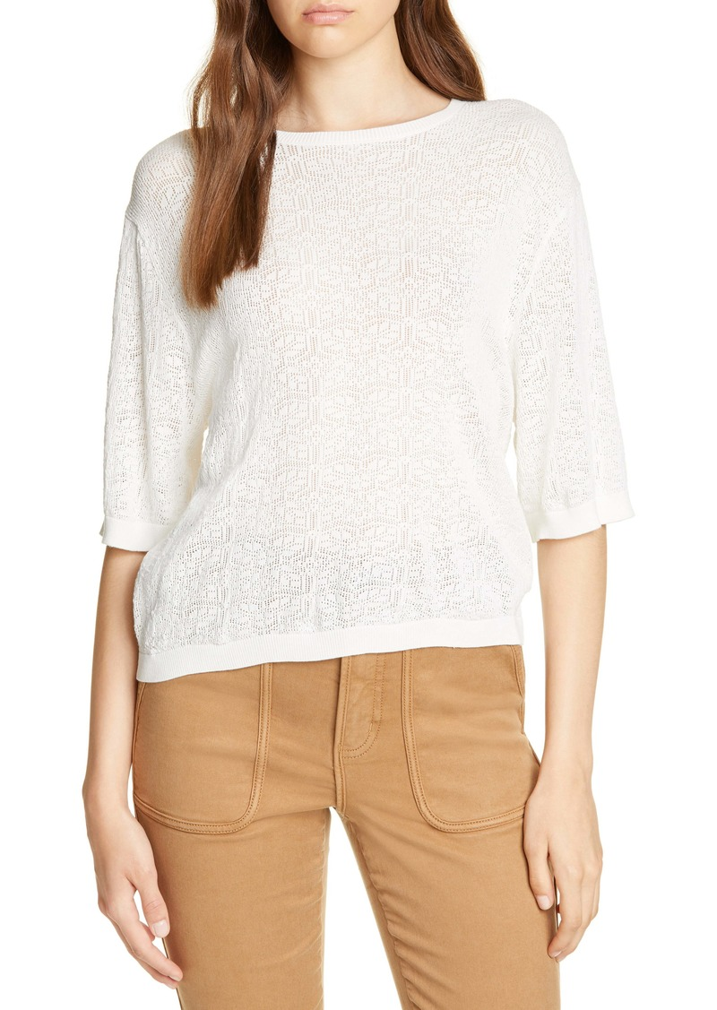 Joie Brikly Pointelle Sweater