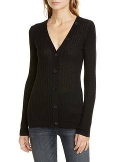 Joie Brinleigh Ribbed Wool & Silk Cardigan