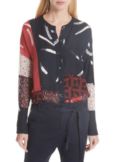 Joie Brunonia Patchwork Blouse