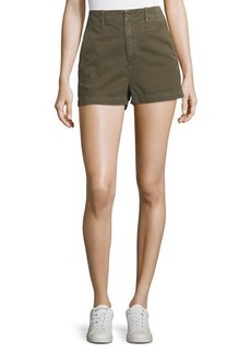 Joie Brusha Mid-Rise Cotton Shorts