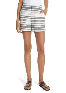 Joie Brusha Stripe Cotton Twill Shorts