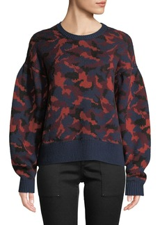 Joie Brycen Camo Wool Crewneck Sweater