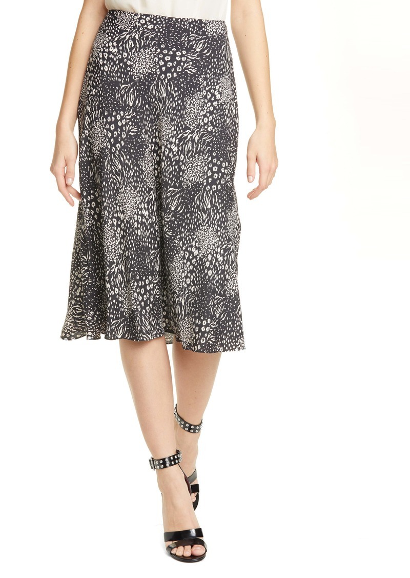 Joie Brystal Mixed Animal Print Skirt