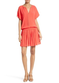 Joie Bryton Pleated Blouson Dress