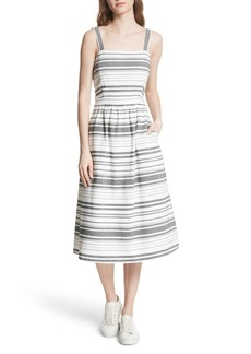 Joie Cabeza Stripe Backless Cotton Sundress