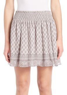 Joie Cabrini Silk Smocked Skirt