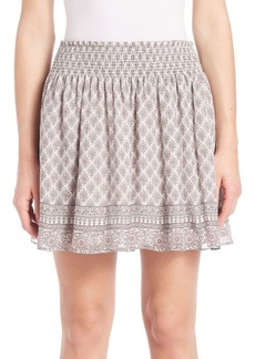 Joie Cabrini Silk Smocked Skirt