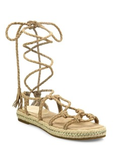 Joie Caesar Suede Lace-Up Espadrille Sandals