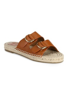 Joie Cagney Leather Espadrille Slides