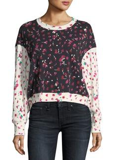 Joie Caleigh Mi Amor Crewneck Pullover Sweatshirt