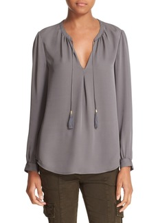 Joie 'Calla' Split Neck Silk Blouse