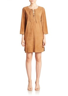 Joie Camarillo Suede Lace-Up Dress