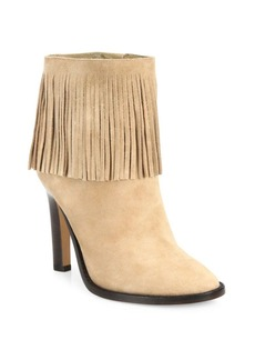 Joie Cambrie Fringe Suede Booties