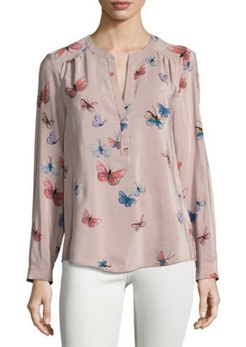 293d507b596cd Joie Joie Carita Butterfly-Print Silk Blouse
