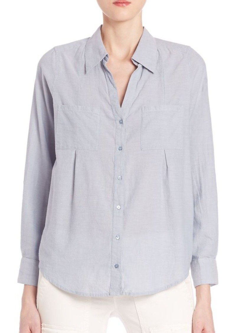 Joie Cartel Button-Front Chambray Shirt