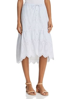 Joie Chantoya Eyelet Skirt