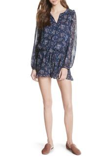 Joie Cherita Floral Silk Romper